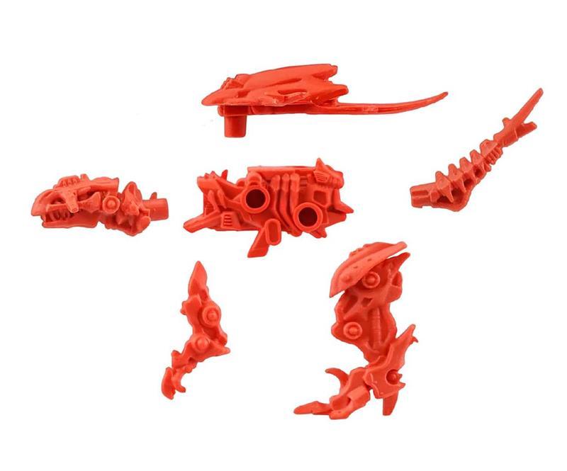 ZOIDS Wild Puzzle Keshigomu (Eraser) Set of 10