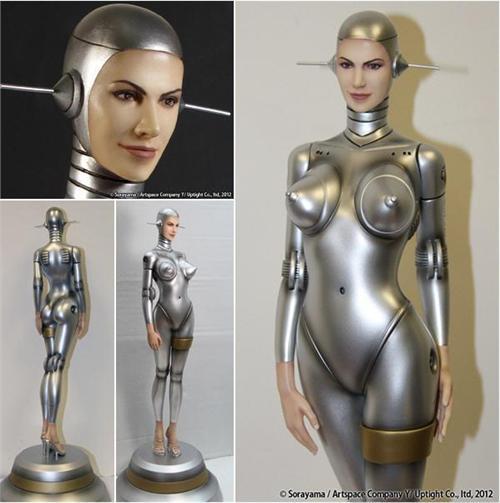 Wonder humanoid robot fetish she